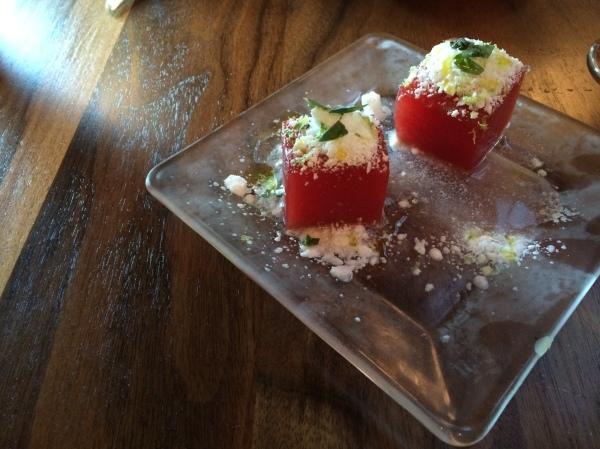 Compressed watermelon!
