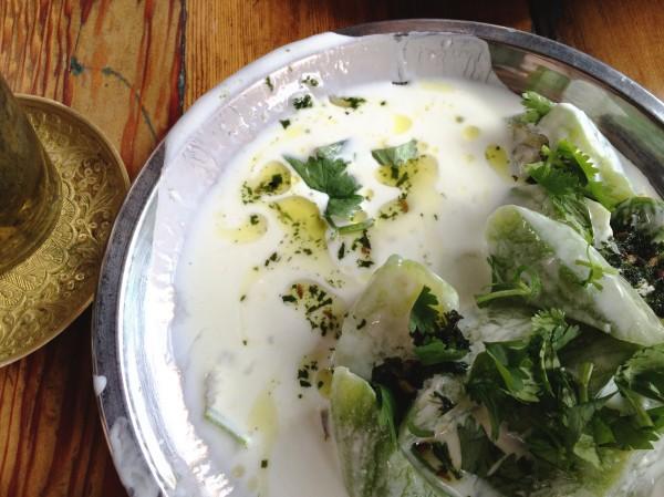 cucumbers in yogurt